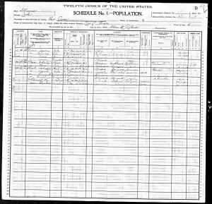 1900 Census Marks family
