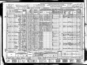 1940 US Census Walton, Edna