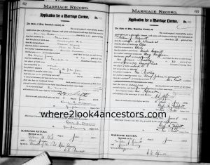 1904 Marriage Record Schmitt, Arthur and Beckley, Jennie