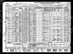 1940 US Census IL Mueller, William E