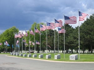 Fort Snelling National Cemetery Avenue of Flags