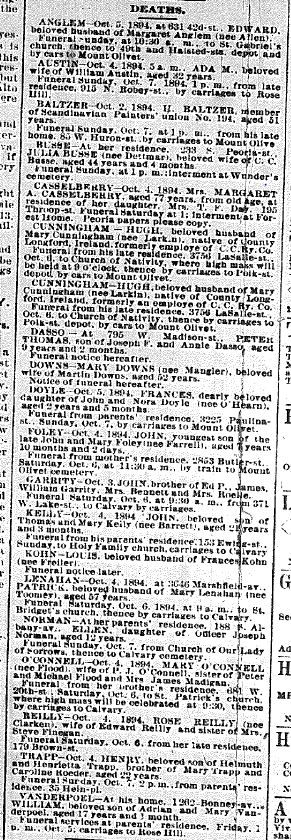 Chicago Daily News  October 5, 1894 pg 11