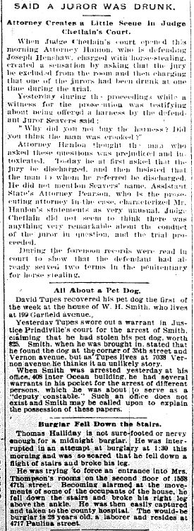 Chicago Daily News October 25, 1894 pg 1