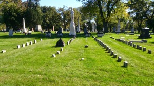 Union area of Oak Woods Cemetery