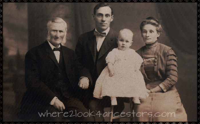 Four Generations of Landstrom/Tolf Ancestors