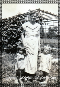 Johanna Flood with two granddaughters