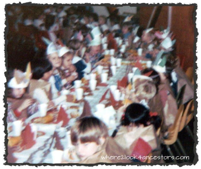 preschool turkey day celebration 70's style