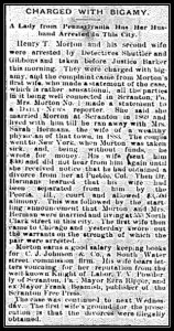 2015 12-09 Free Press Friday - CDN 1886 Sep 18 FP - Bigamy