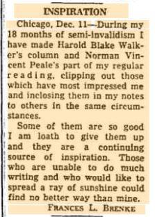 2015 12-18 from 1963 12-18 Brenke blurb in the Chicago Tribune