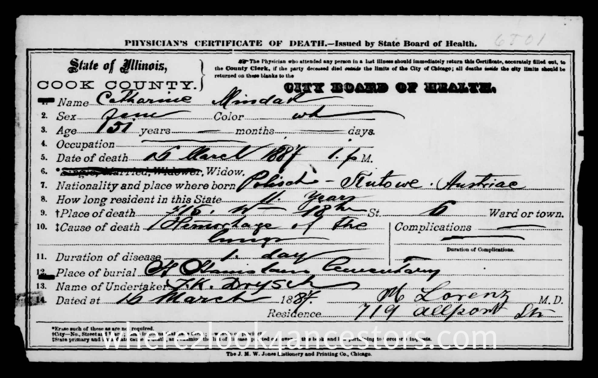 Mystery monday death certificate 6801 where2look4ancestors 2016 01 04 death certificate 6801 1betcityfo Image collections