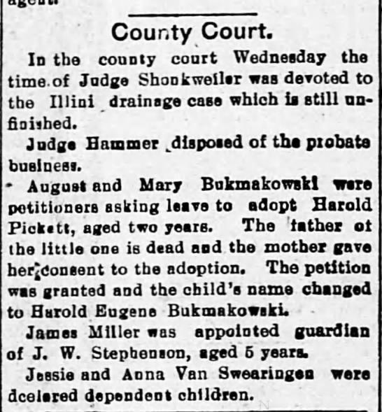 Bukmakowski 1901 05-09 Decatur Herald pg 6