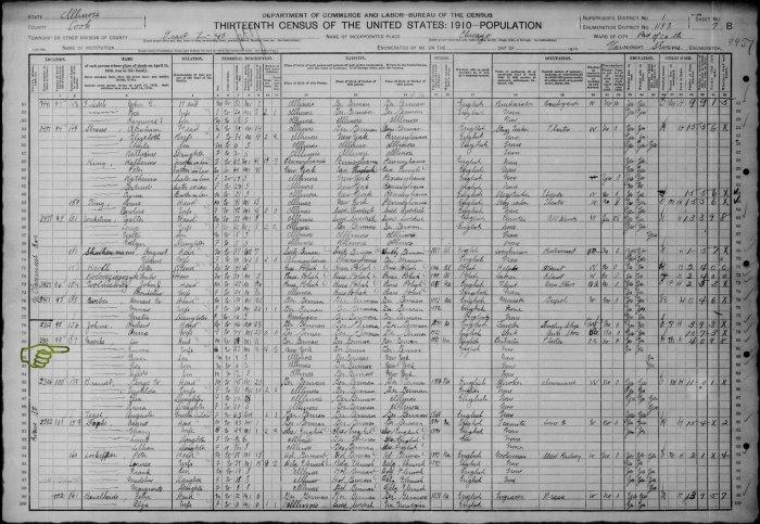 1910 Census Moenke