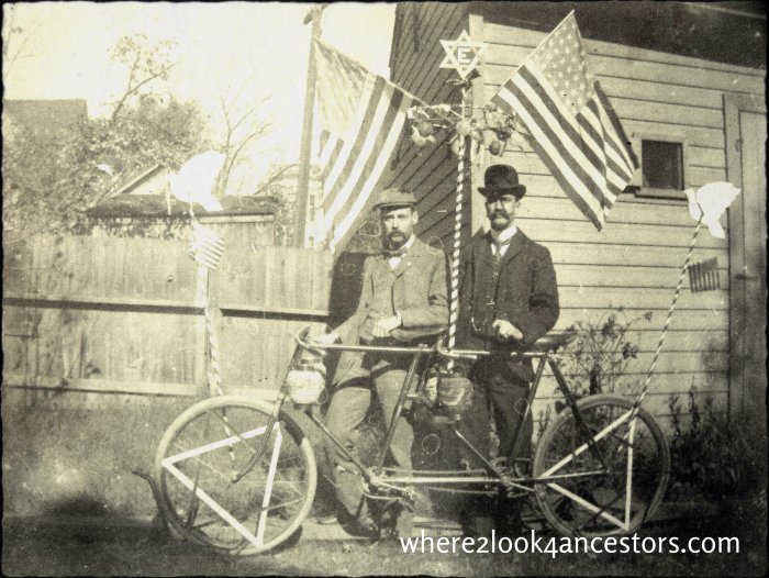 Biking for parade at http://where2look4ancestors.com