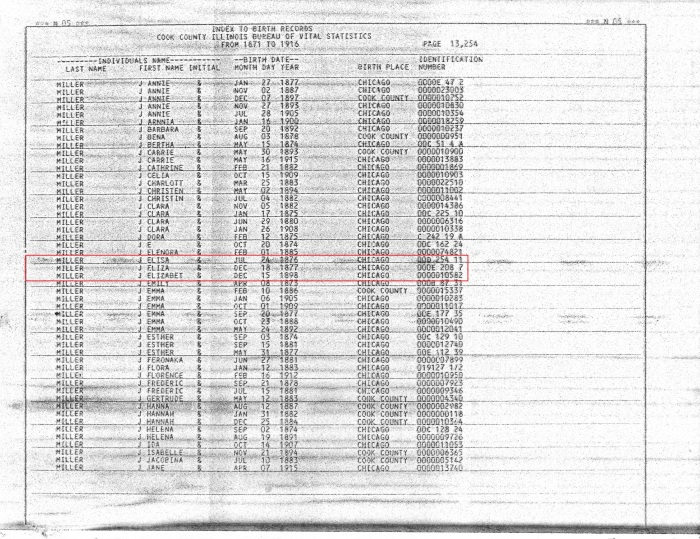 1871-1916 Index to Birth Records pg 13254