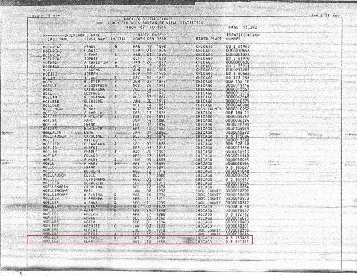 1871-1916 Index to Birth Records pg 13392
