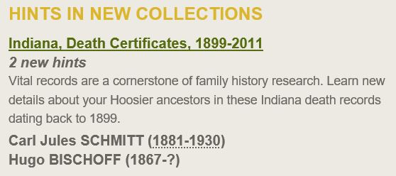 2016 09-10 Surname Saturday Ancestry Hints Indiana