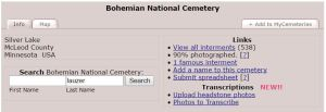 Bohemian National Cemetery on Find A Grave