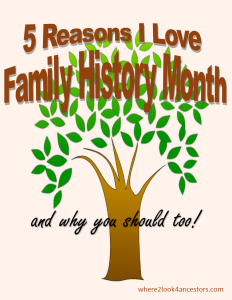 5 Reasons for FHM at where2look4ancestors.com