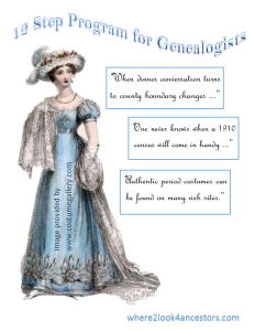 12 Step Program for Genealogists by where2look4ancestors.com